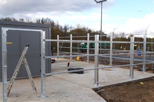 Portail et enceinte Station BioGaz Saumur