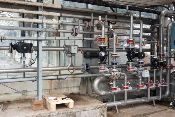 Rénovation de tuyauterie de serre agricole